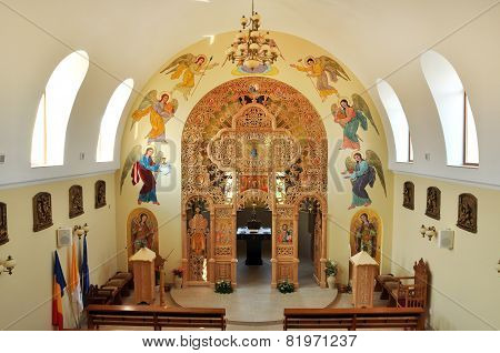 Interior Of A Greek Catholic Church In Romania