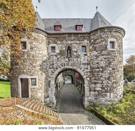 Ponttor - Medieval City Gate In Aachen