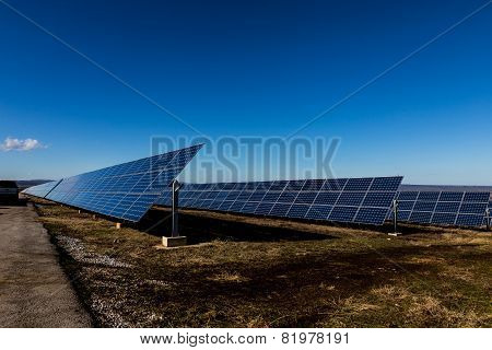 Solar Panels In The Fields