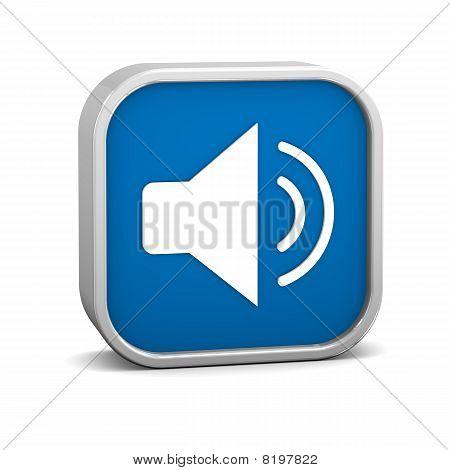 Dark Blue Enable Audio Sign