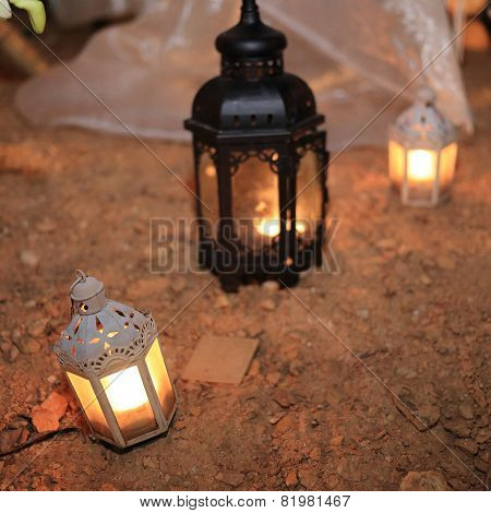 Candle Lamp Decoration Festival Of Light, Lighting Decorate In Wedding Day