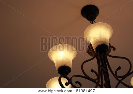 Luxury Candelabrum On Dark Wall Background