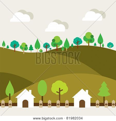 Natural Landscape Background.