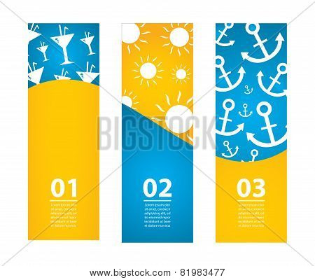 Special Summer Banners, Eps10, Vector Illustration