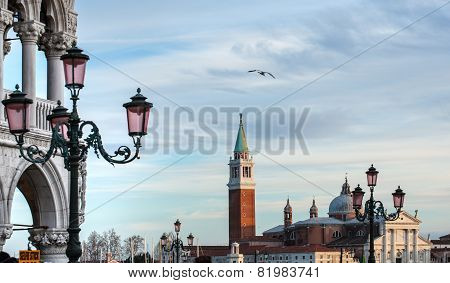 San Giorgio Maggiore Church View From Saint Mark Square