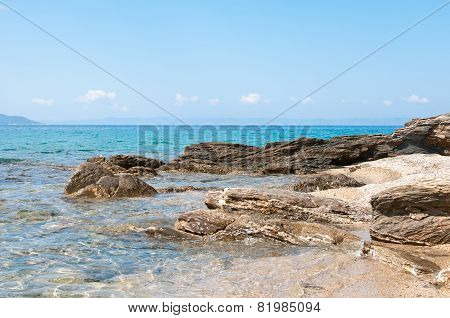 Sea And Volcanic Rocky Shore