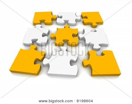 Decomposed jigsaw puzzle