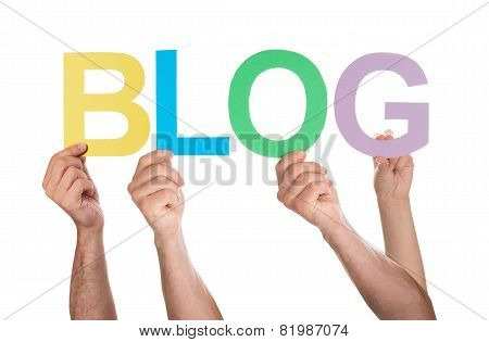 People Holding The Word Blog