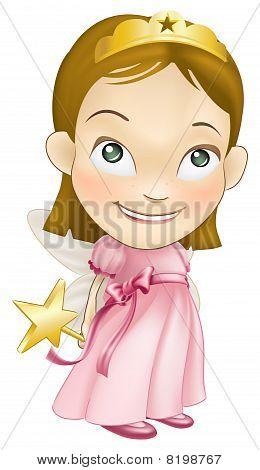 filho de garota de traje da princesa fada