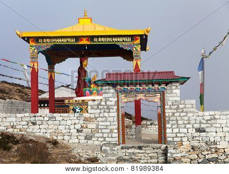 New Statue Of Buddha In Pangboche Monastery