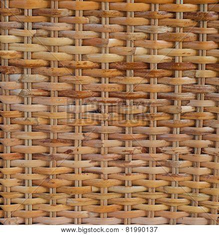 background of interwoven bamboo
