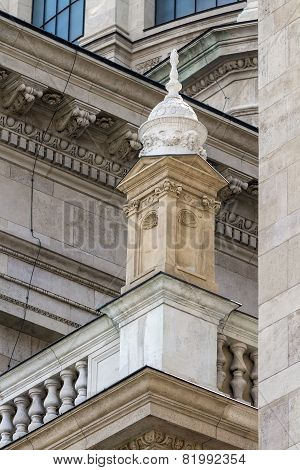 A Small Tower In The Decoration Of The Catholic Cathedral In Budapest