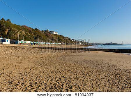 Sandy beach Bournemouth coast Dorset England UK near to Poole