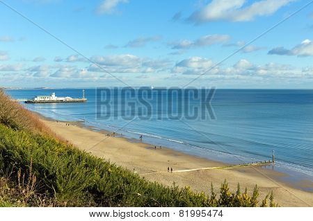 Bournemouth Dorset England UK near to Poole known for beautiful sandy beaches