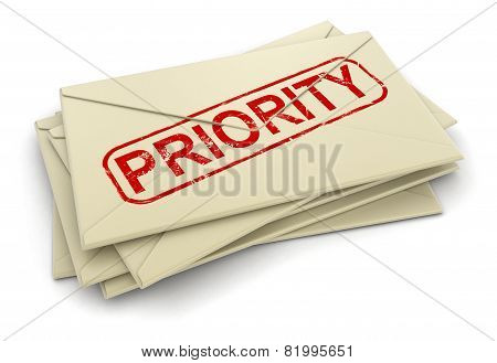 Priority letters  (clipping path included)
