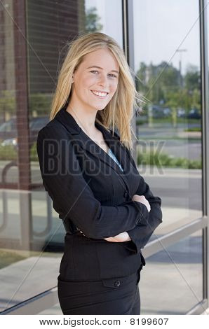 Attractive Businesswoman With Arms Crossed