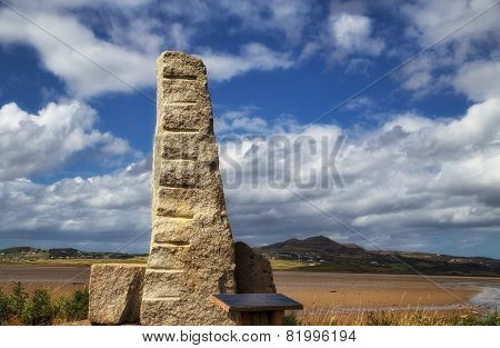 Ogham Stone, Carrickart, Co. Donegal, Ireland