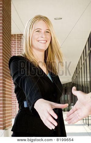 Businesswoman Handshake