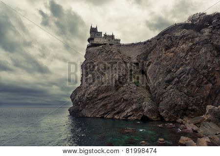 Swallow's Nest castle on the rock over the sea Crimea