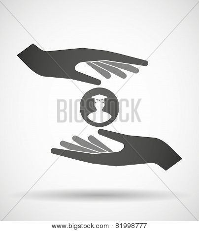 Hands Protecting Or Giving A Student  Avatar