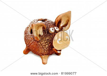 Comical Ceramic Pig