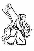 pic of aikido  - Vector illustration  - JPG