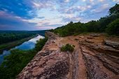 picture of bluff  - A view of the Osage River at Monegaw Springs Missouri located in the Ozark Region - JPG