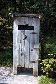foto of outhouses  - When indoor plumbing fails - JPG