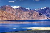 pic of jammu kashmir  - Mountain reflection on Pangong tso  - JPG