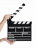 foto of backround  - Hands holding a clapper board - JPG