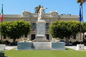 picture of messina  - Square and city hall in Reggio Calabria Italy - JPG