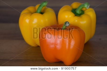 Orange and Yellow Sweet Peppers