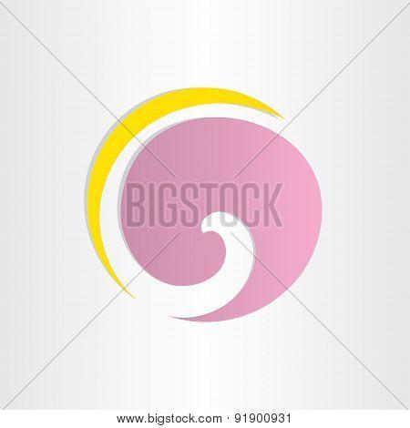 Letter G Violet Circle Wave