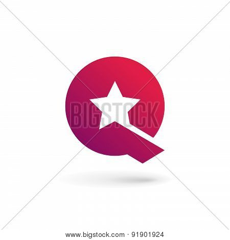 Letter Q Star Logo Icon Design Template Elements
