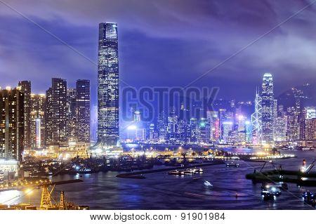 Hong Kong skylines at night