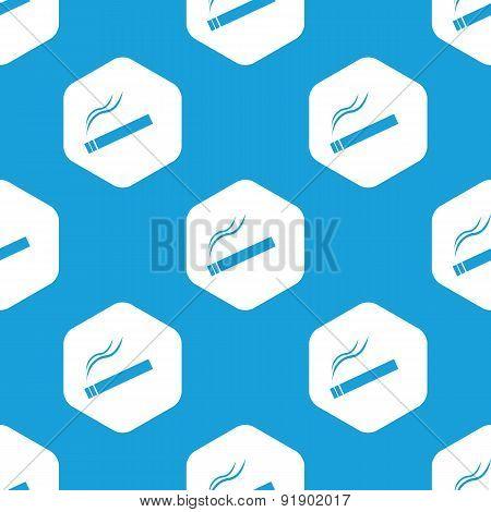 Smoking hexagon pattern