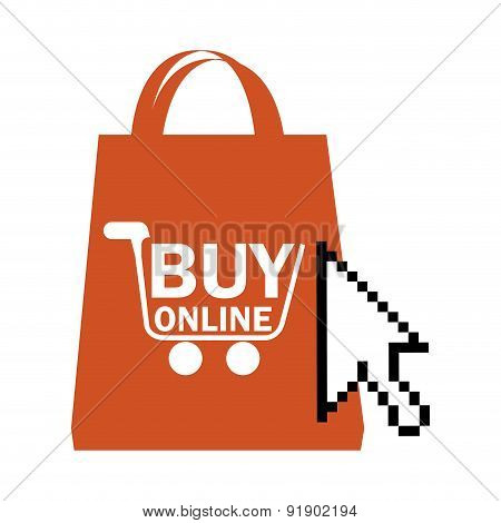 Shopping design over white background vector illustration