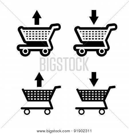 Basket Shop Black Vector
