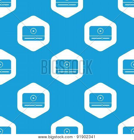 Mediaplayer hexagon pattern