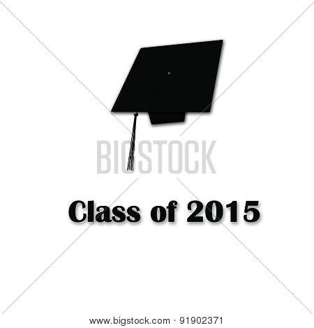 Class of 2015 Black on White Lg Single
