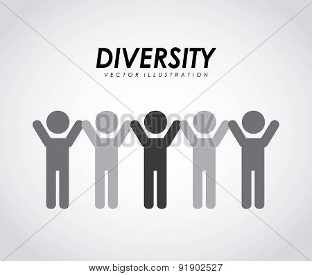 Diversity design over gray background vector illustration