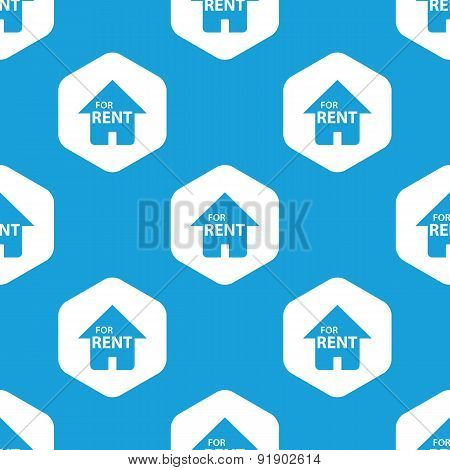 For rent hexagon pattern