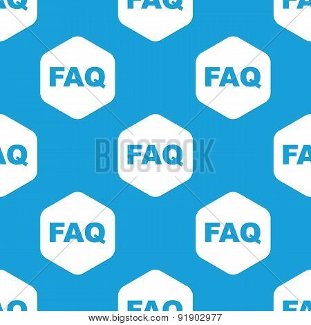 FAQ hexagon pattern