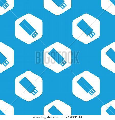 USB stick hexagon pattern