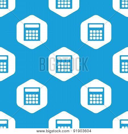 Calculator hexagon pattern