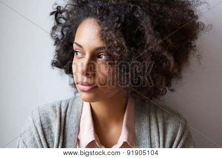 Beautiful Black Woman Looking Away