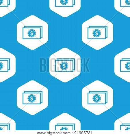 Dollar bill hexagon pattern