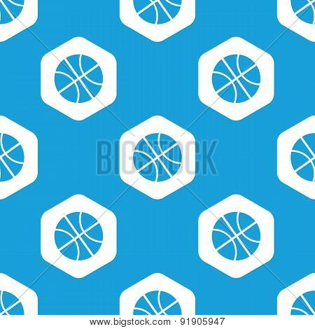 Basketball hexagon pattern