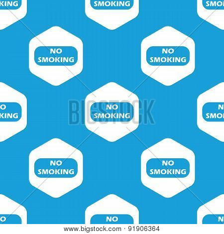 NO SMOKING hexagon pattern