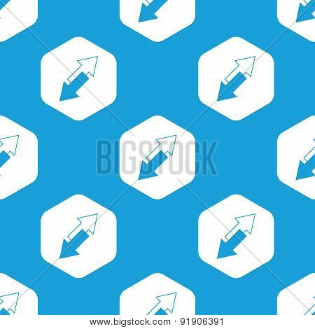 Tilted arrows hexagon pattern